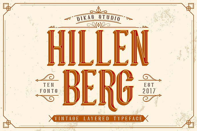 Hillenberg - 38+ Beautiful Fonts For Graphic Design [year]