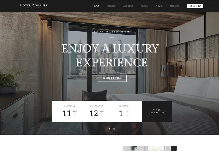 Hotel-Booking-1 - 37+ Awesome WordPress Booking Themes [year]