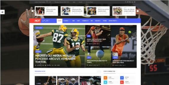 Hotmagazine - 42+ Amazing Sport Magazine WordPress Themes [year]