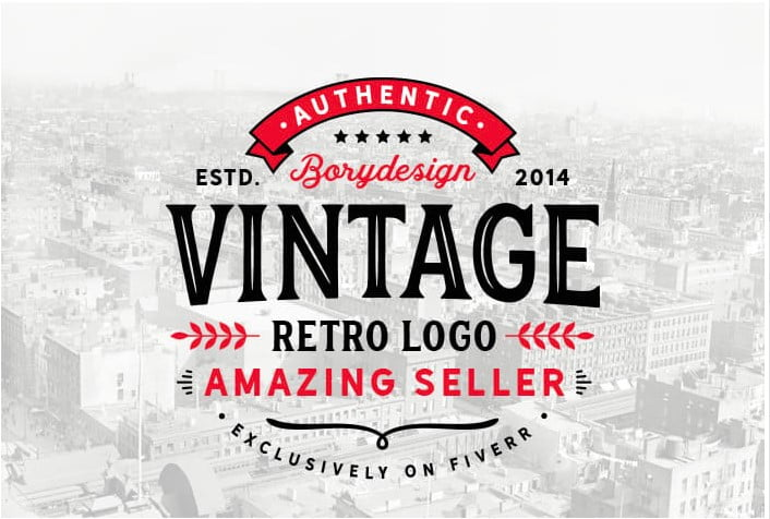 I-will-design-a-retro-vintage-logo-By-borydesign-1 - 35+ Top Rated Level One Logo Design Fiverr Seller [year]