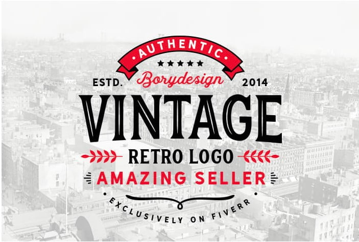 I-will-design-a-retro-vintage-logo-By-borydesign - 35+ Top Rated Logo Design Fiverr Gigs [year]