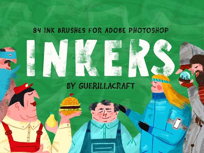 Inkers - 43+ Amazing BEST Free Photoshop Brush Sets [year]