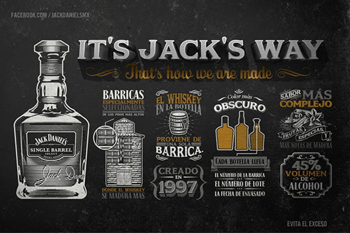 Jack-Daniels - 43+ BEST Free Awesome Infographic Designs IDEA [year]