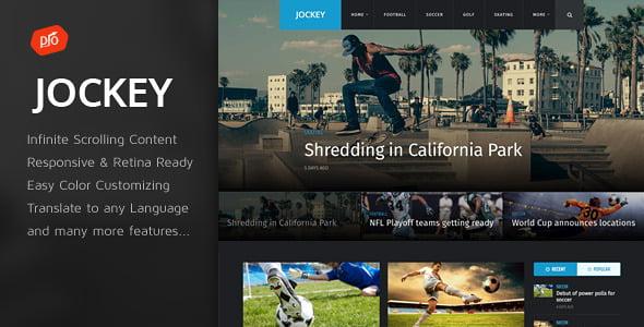 Jockey - 42+ Amazing Sport Magazine WordPress Themes [year]