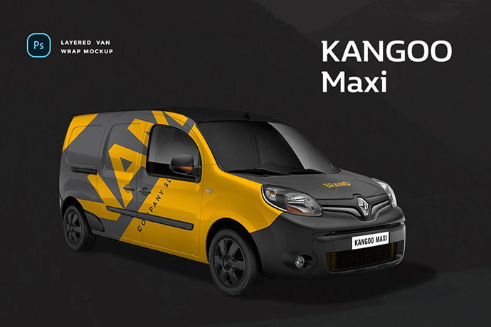 Kangoo-Maxi - 38+ Nice PSD Mockups for Your Amazing Projects [year]