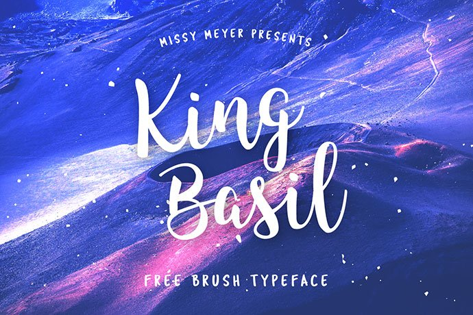 King-Basil - 53+ Best Free Calligraphy & Hand Lettering Fonts [year]