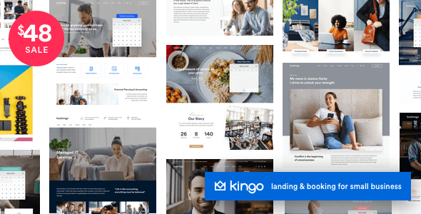 Kingo - 37+ Awesome WordPress Booking Themes [year]