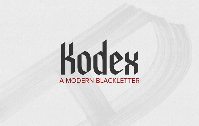 Kodex - 28+ Excellent 100% Free Blackletter Fonts [year]