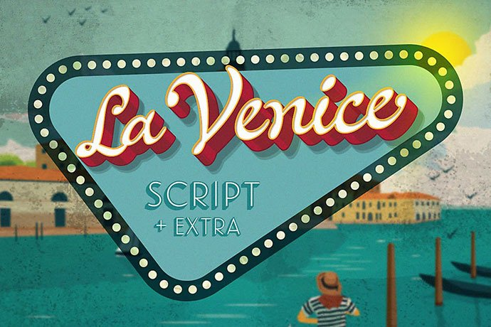 La-Venice - 53+ Nice T-shirt Design Hand Lettering Fonts [year]