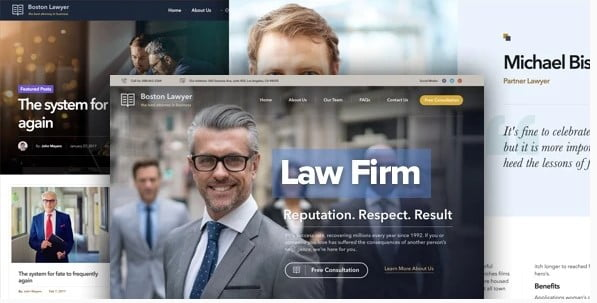 Lawyer - 35+ Awesome WordPress Government Themes [year]
