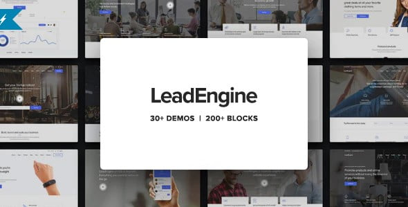 LeadEngine - 33+ Responsive WordPress SAAS Themes [year]