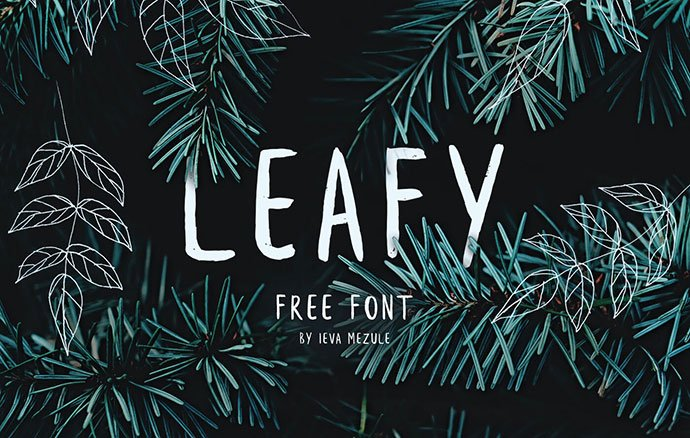 Leafy - 53+ Best Free Calligraphy & Hand Lettering Fonts [year]