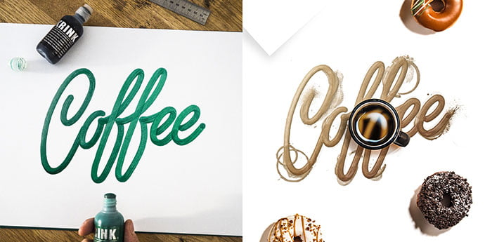Lettering - 53+ Impressive BEST Free Food & Drink Designs [year]