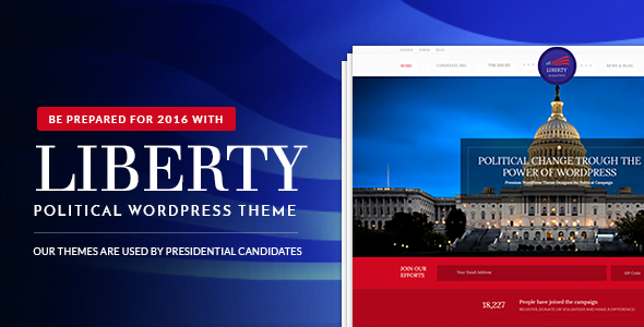 Liberty - 35+ Awesome WordPress Government Themes [year]