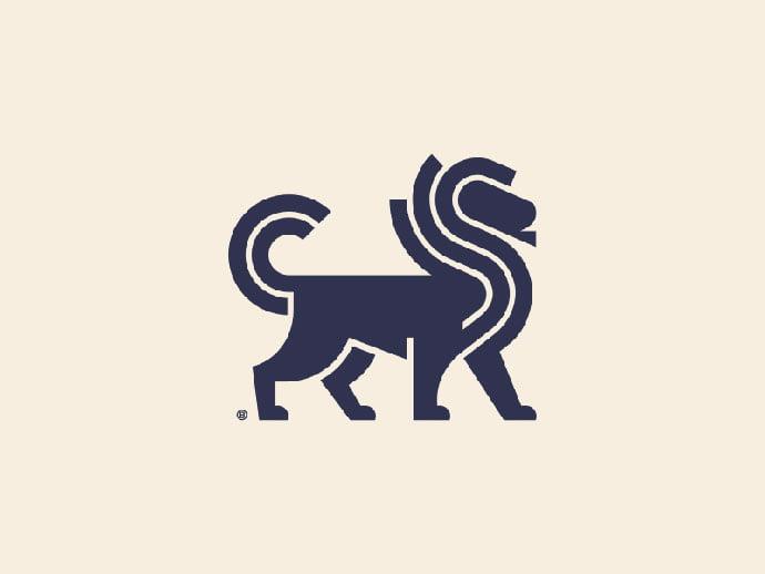 Lion-Mark - 43+ Top BEST Free Animal Logo Designs Example [year]