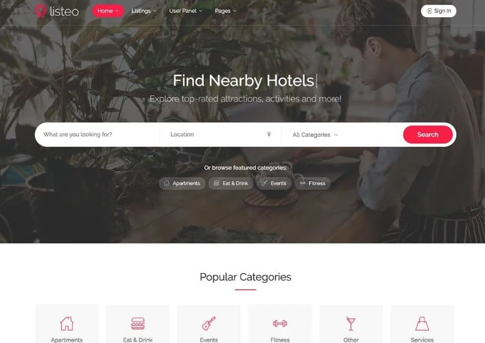 Listeo - 37+ Awesome WordPress Booking Themes [year]