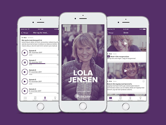 Lola-Jensen - 63+ BEST Free PodCast Web & Mobile App UI Design IDEA [year]