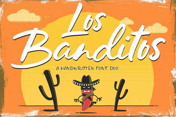 Los-Banditos - 53+ Nice T-shirt Design Hand Lettering Fonts [year]