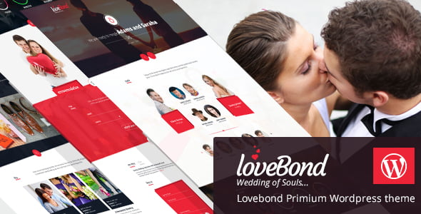 LoveBond - 35+ Nice WordPress Wedding Planner Themes [year]
