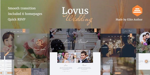 Lovus - 35+ Nice WordPress Wedding Planner Themes [year]