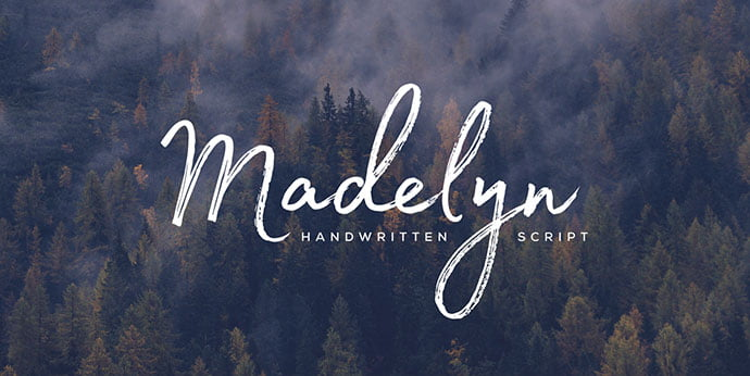 Madelyn - 53+ Best Free Calligraphy & Hand Lettering Fonts [year]