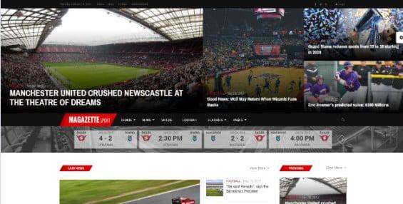 Magazine-Magazette - 42+ Amazing Sport Magazine WordPress Themes [year]