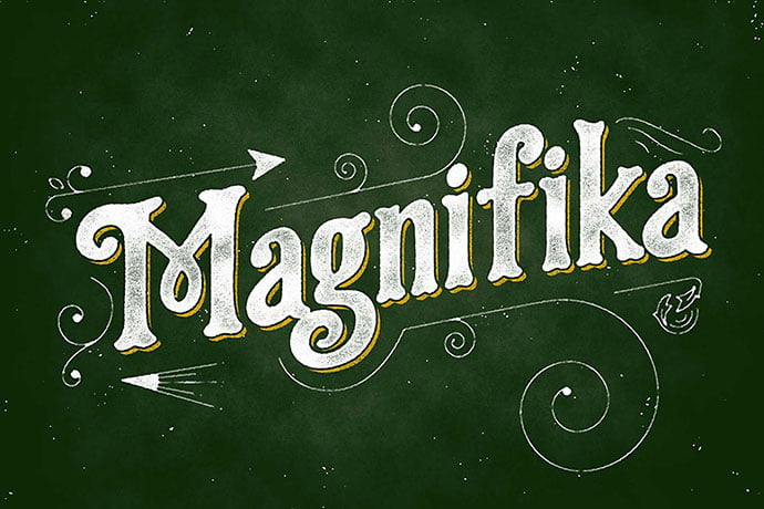 Magnifika - 38+ Beautiful Fonts For Graphic Design [year]