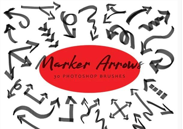 Marker-Arrows - 43+ Amazing BEST Free Photoshop Brush Sets [year]