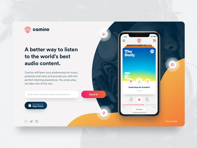 Marketing - 63+ BEST Free PodCast Web & Mobile App UI Design IDEA [year]