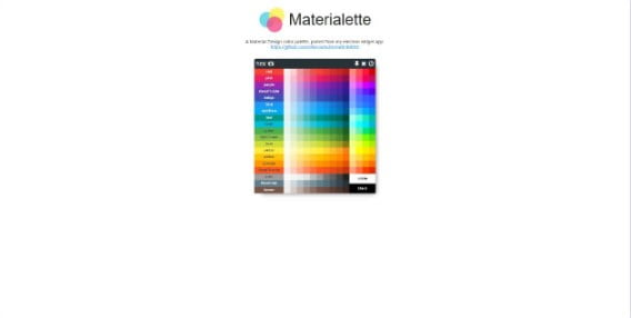 Materialette - 38+ Awesome 100% Free Web Color Picker Designs [year]