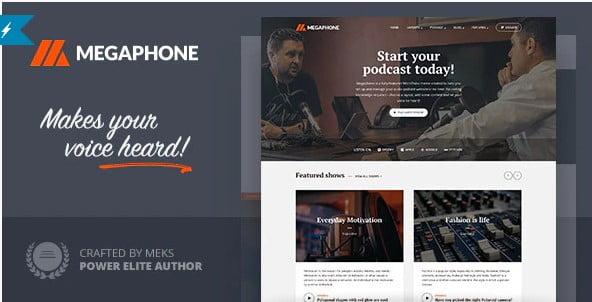 Megaphone - 36+ Amazing WordPress Radio Station Themes [year]