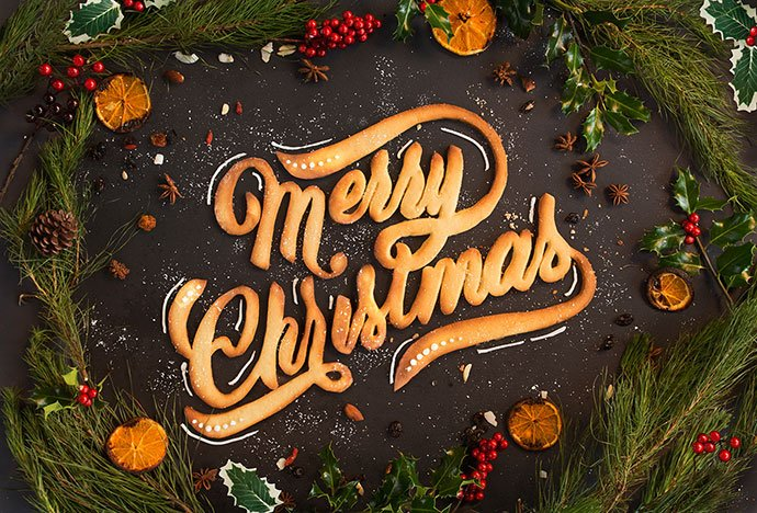 Merry-Christmas-Food - 53+ Impressive BEST Free Food & Drink Designs [year]