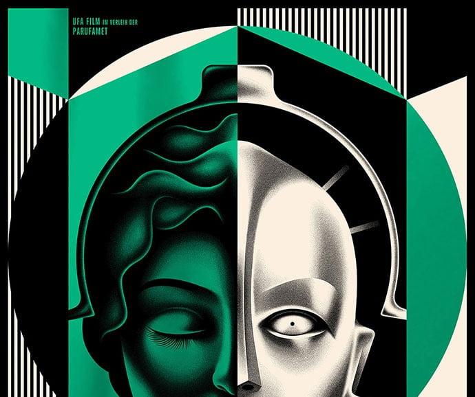 Metropolis-Film-Poster - 39+ Best BEST Free Retro & Vintage Movie Design [year]