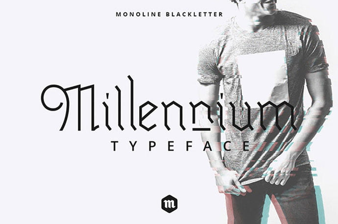 Millennium - 28+ Excellent 100% Free Blackletter Fonts [year]