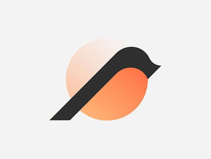 Minimal-Bird-Mark - 43+ Top BEST Free Animal Logo Designs Example [year]