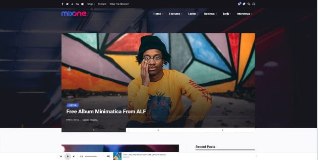 Mixone - 33+ Awesome Music Blog Responsive WordPress Themes [year]