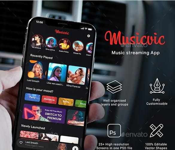 Modern-Music-Player - 63+ BEST Free PodCast Web & Mobile App UI Design IDEA [year]