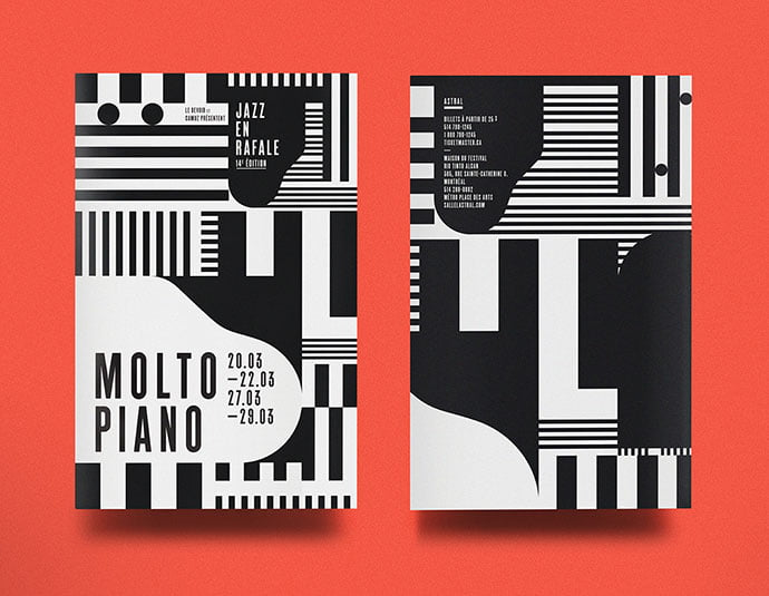 Molto-Piano - 38+ Awesome BEST Free Organic Shapes Poster Design [year]