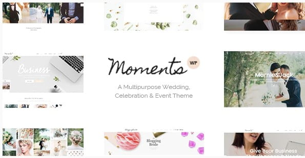 Moments - 35+ Nice WordPress Wedding Planner Themes [year]