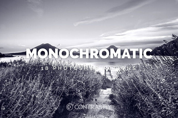Monochromatic-1 - 34+ Awesome Black & White Photoshop Actions [year]