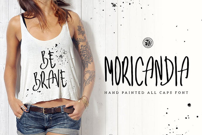 Moricandia - 53+ Nice T-shirt Design Hand Lettering Fonts [year]