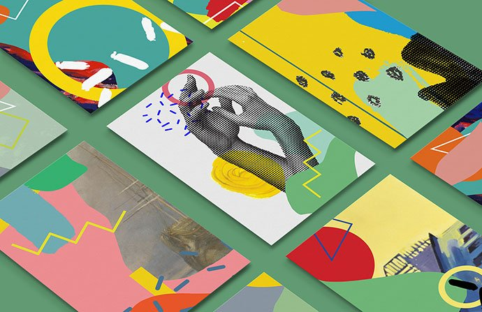 Museum-Identity - 38+ Awesome BEST Free Organic Shapes Poster Design [year]