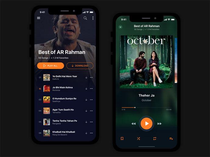 Music-App-Concept - 63+ BEST Free PodCast Web & Mobile App UI Design IDEA [year]