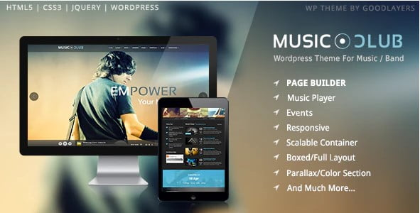 Music-Club - 36+ Amazing WordPress Radio Station Themes [year]