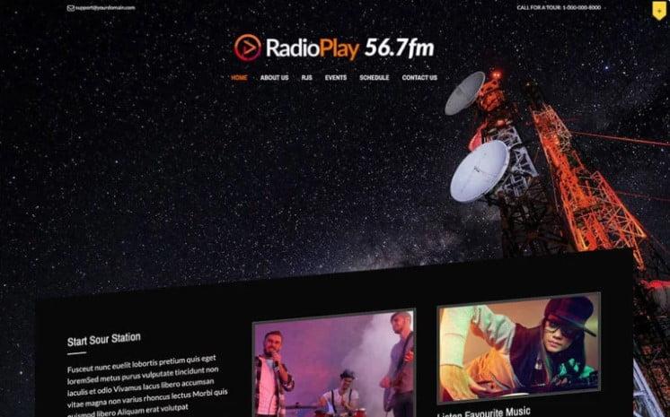 MusicPlay - 36+ Amazing WordPress Radio Station Themes [year]