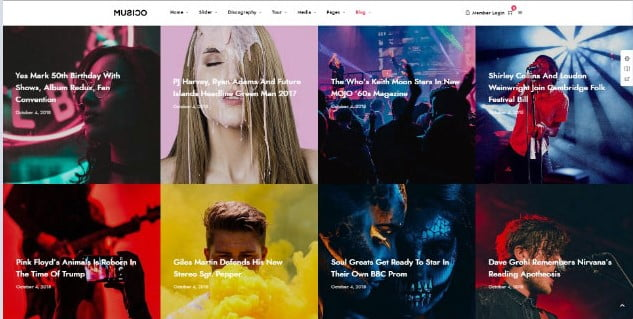Musico - 33+ Awesome Music Blog Responsive WordPress Themes [year]