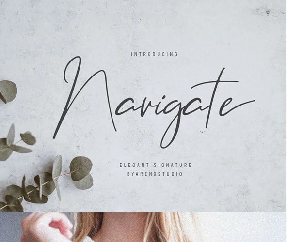 Navigate-Elegant-Signature - 53+ Best Free Calligraphy & Hand Lettering Fonts [year]