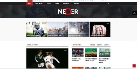 Neder - 42+ Amazing Sport Magazine WordPress Themes [year]