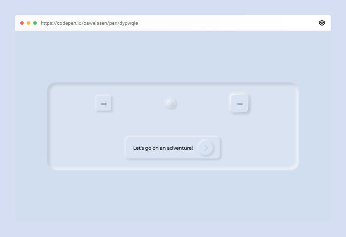 Neumorphic-Design - 38+ BEST Free CSS Neomorphic UI Design IDEA [year]