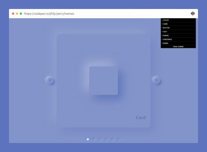 Neumorphic-Playground - 38+ BEST Free CSS Neomorphic UI Design IDEA [year]